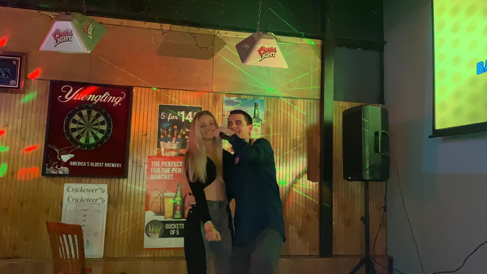 Roman Kovalchuk and Aaron Tindall hosting Karaoke FL with Florida Fine LLC